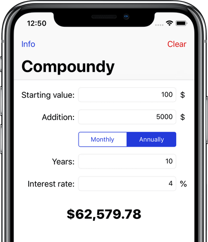 Compound interest - iPhone X